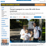 Toronto Star: Teresa's passport to a new life with Down syndrome,