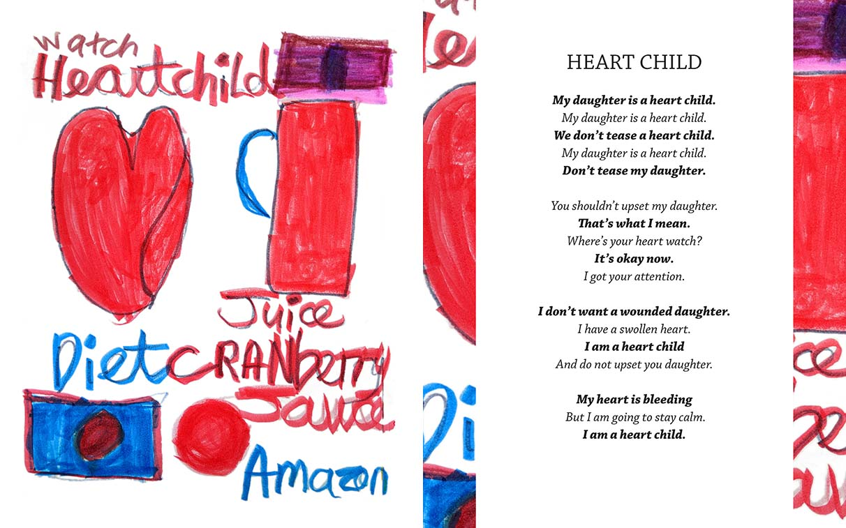 "Teresa Pocock's poem and drawing ""Heart Child"" (2018) is featured in her 2018 book, ""Totally Amazing: Free To Be Me""."