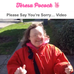 Teresa asks, Please Say Sorry