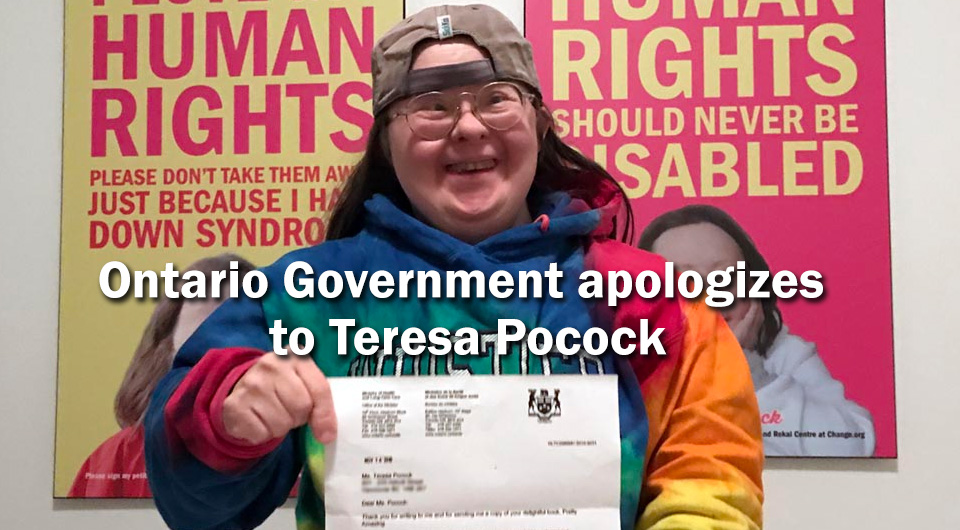 Ontario Government apologizes to Teresa Pocock: 4 Signs of Change