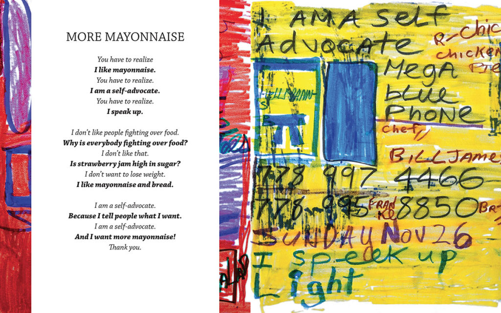 "Teresa Pocock's poem and drawing ""More Mayonnaise"" is featured in her 2018 book, ""Totally Amazing: Free To Be Me"""